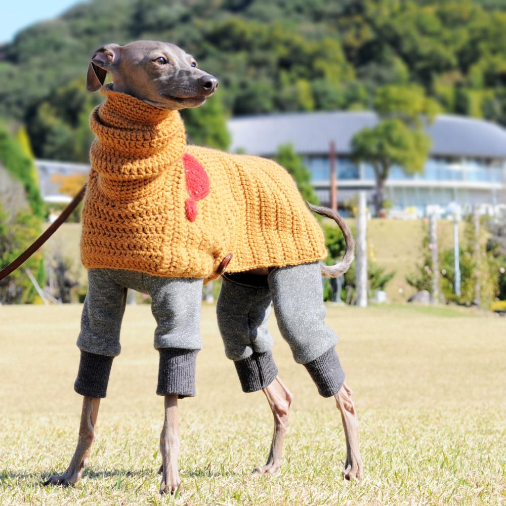 イタグレポンチョ|ウール100%の毛糸を編んだ手作りのPoncho「Mother of Yotchan」