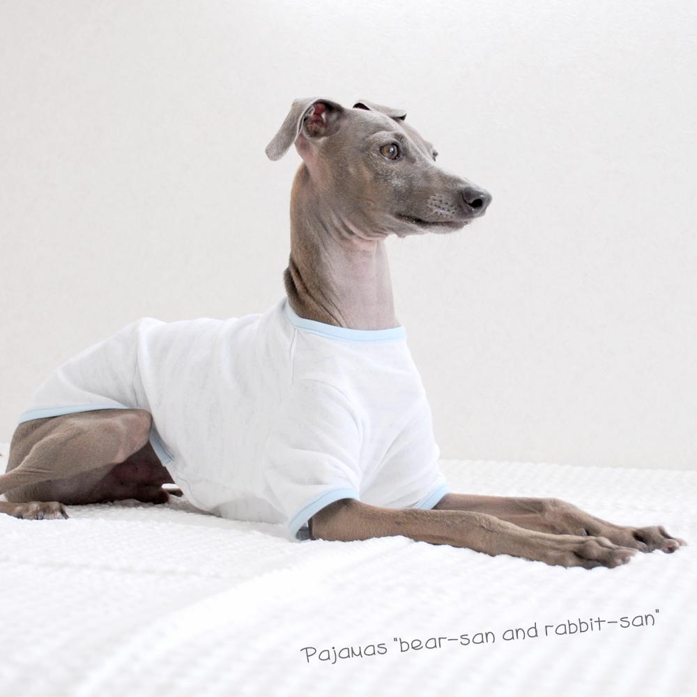 犬服|ぱじゃま「くまさん&うさぎさん」|選べる3タイプ×3カラー(ベージュ/ピンク/ブルー)