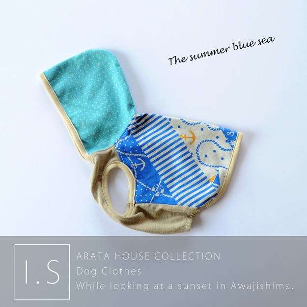 The summer blue sea