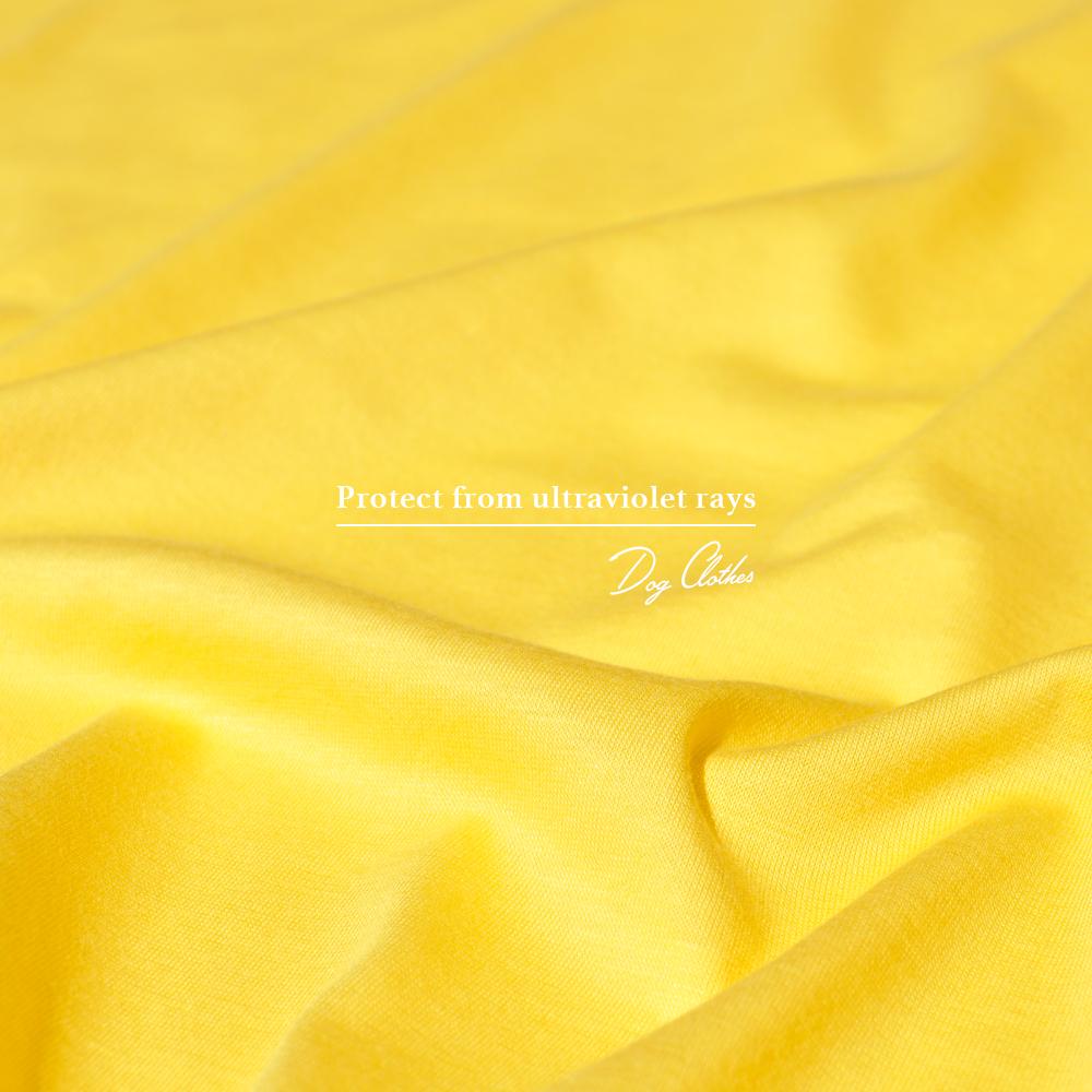 犬服|愛犬を紫外線から守ろう|UVカット加工シルケット天竺ニット|選べる4タイプ×3カラー(Grey/Yellow/Navy)