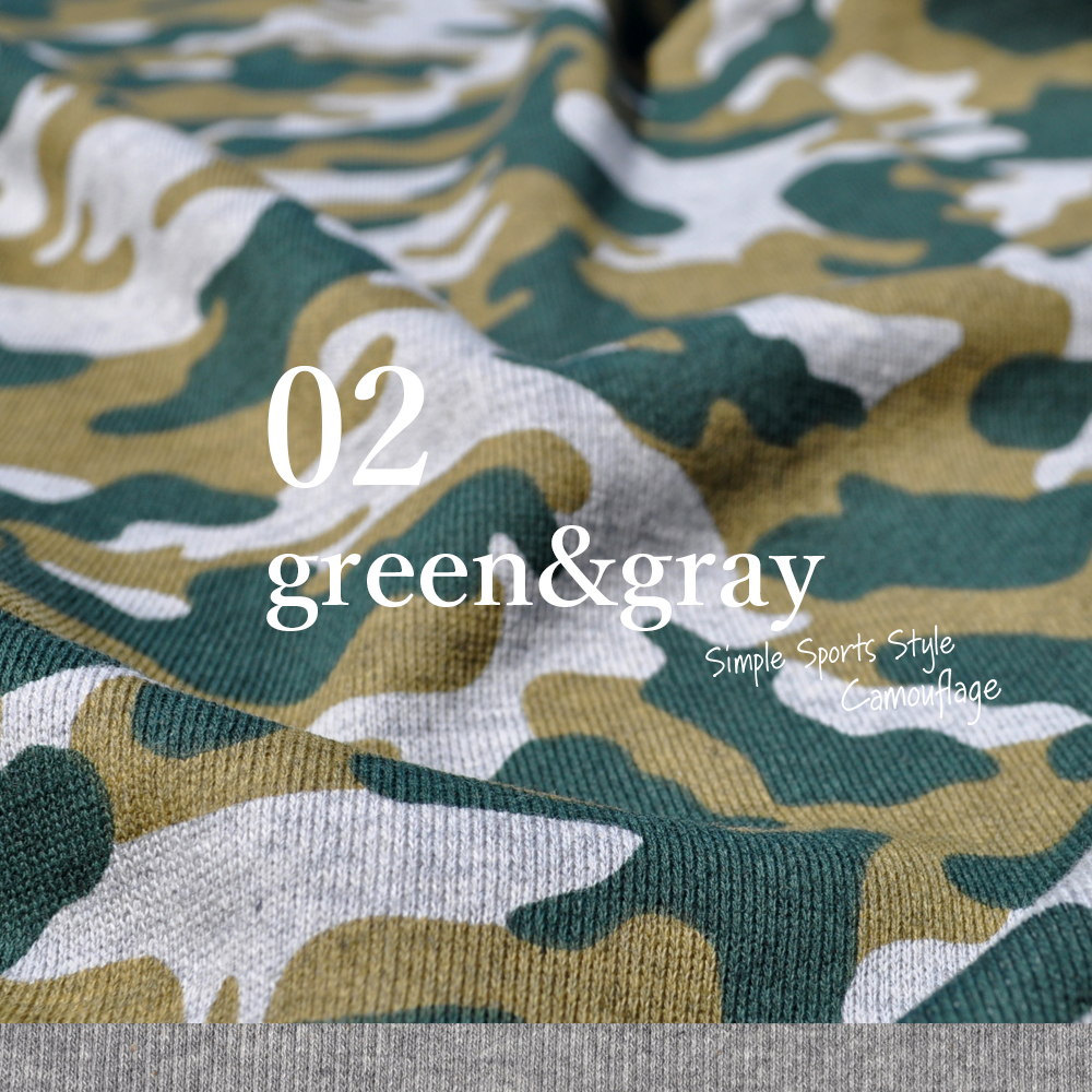犬服|Simple Sports Style Camouflage(迷彩)|裏毛パイルプリント|選べる4タイプ×3カラー(blue&white/green&gray/brown&gray)