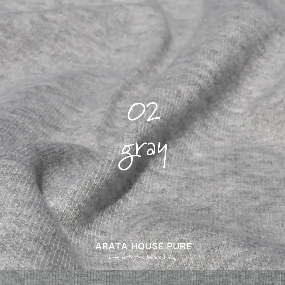 犬服|ARATA HOUSE PURE|ミニ裏毛パイル|選べる4タイプ×3カラー(beige/gray/navy)