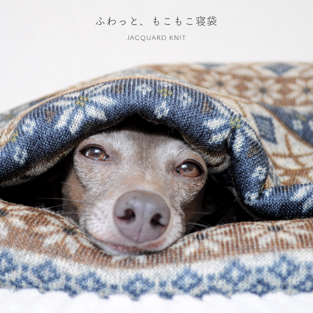 寝袋&カフェマット|ふわっと、もこもこ寝袋「保温効果抜群ニットボンディング」|ジャガードニット裏ボア生地|選べる3カラー