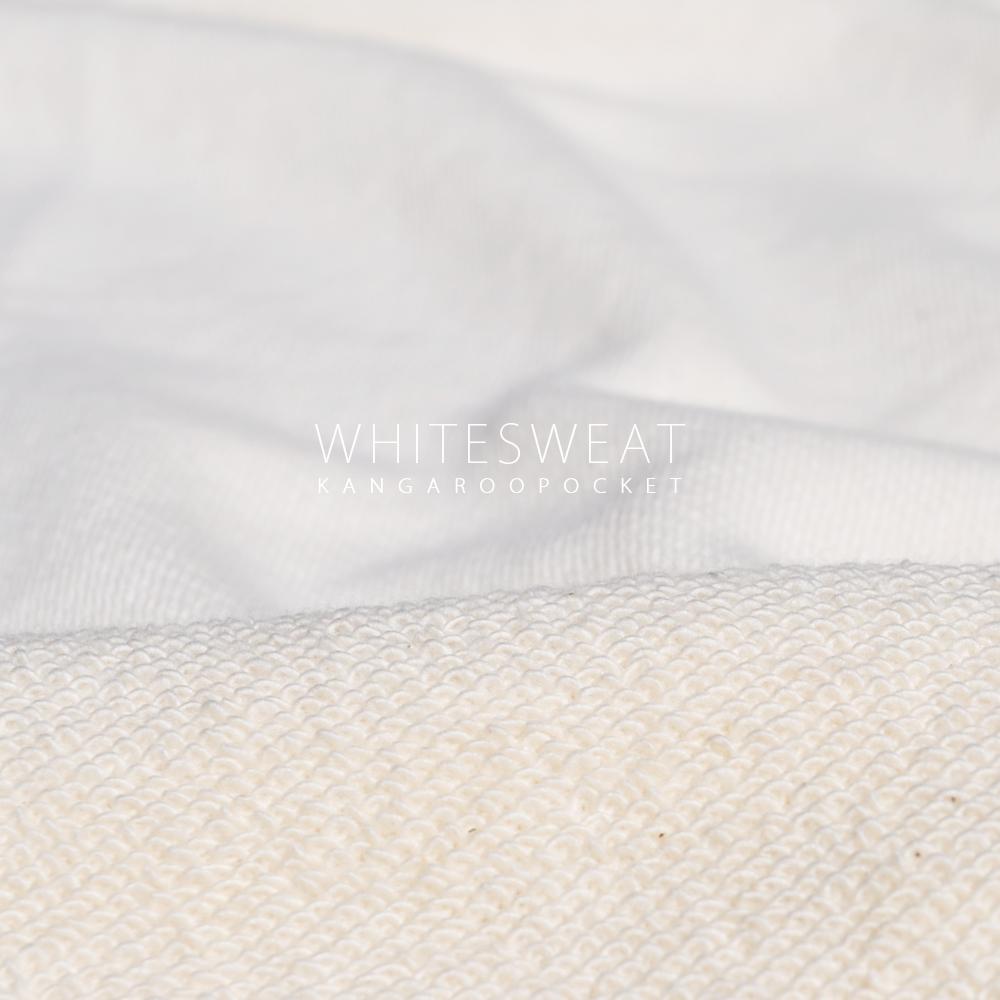 犬服|白スウェット×カンガルーポケット|選べる4タイプ×選べる紐6カラー