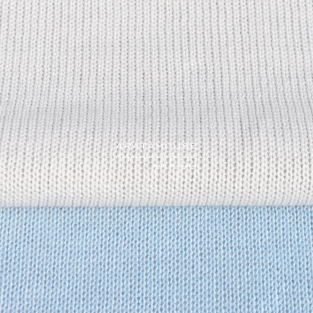 犬服|日本製コットンハイゲージダブルフェイスニット(二重織りニット)|選べる4タイプ×2カラー(ホワイト/スカイブルー)