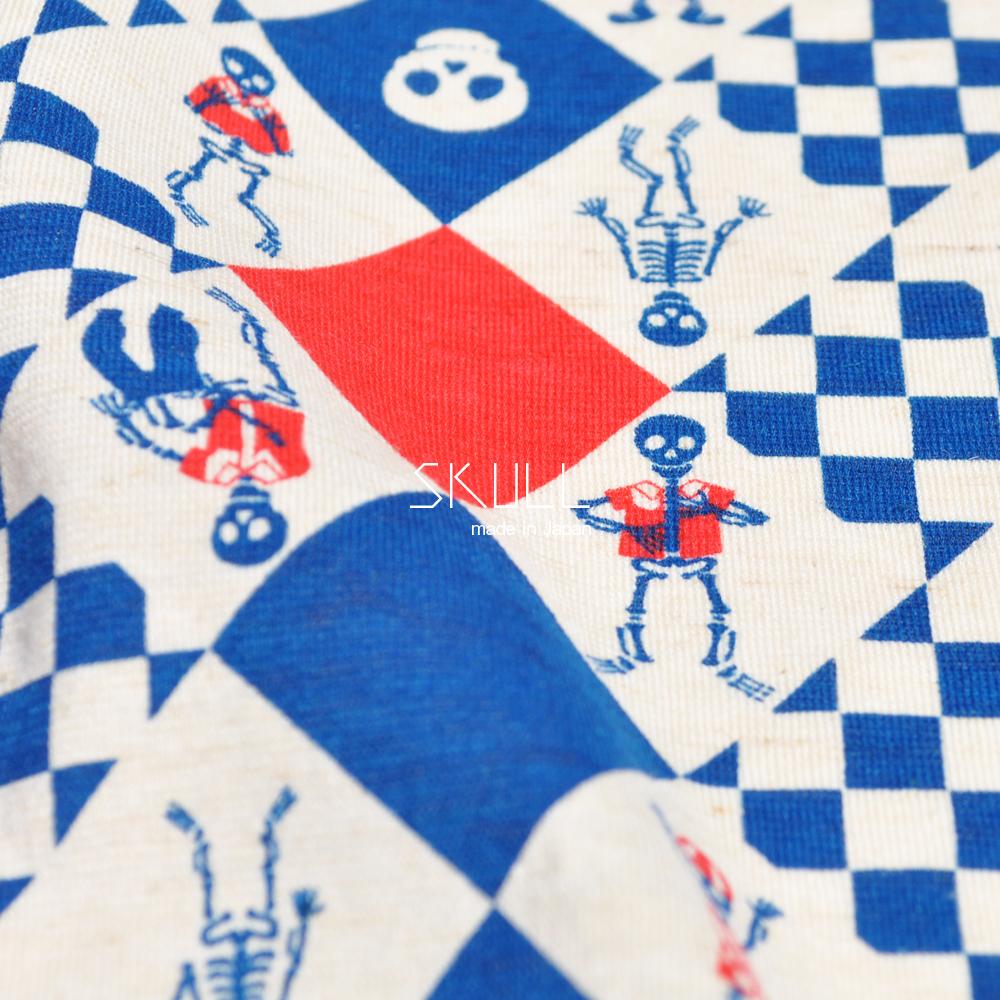 犬服|スカル(どくろ)|日本製ニットプリント|選べる4タイプ×2カラー(ブルー/ブラック)
