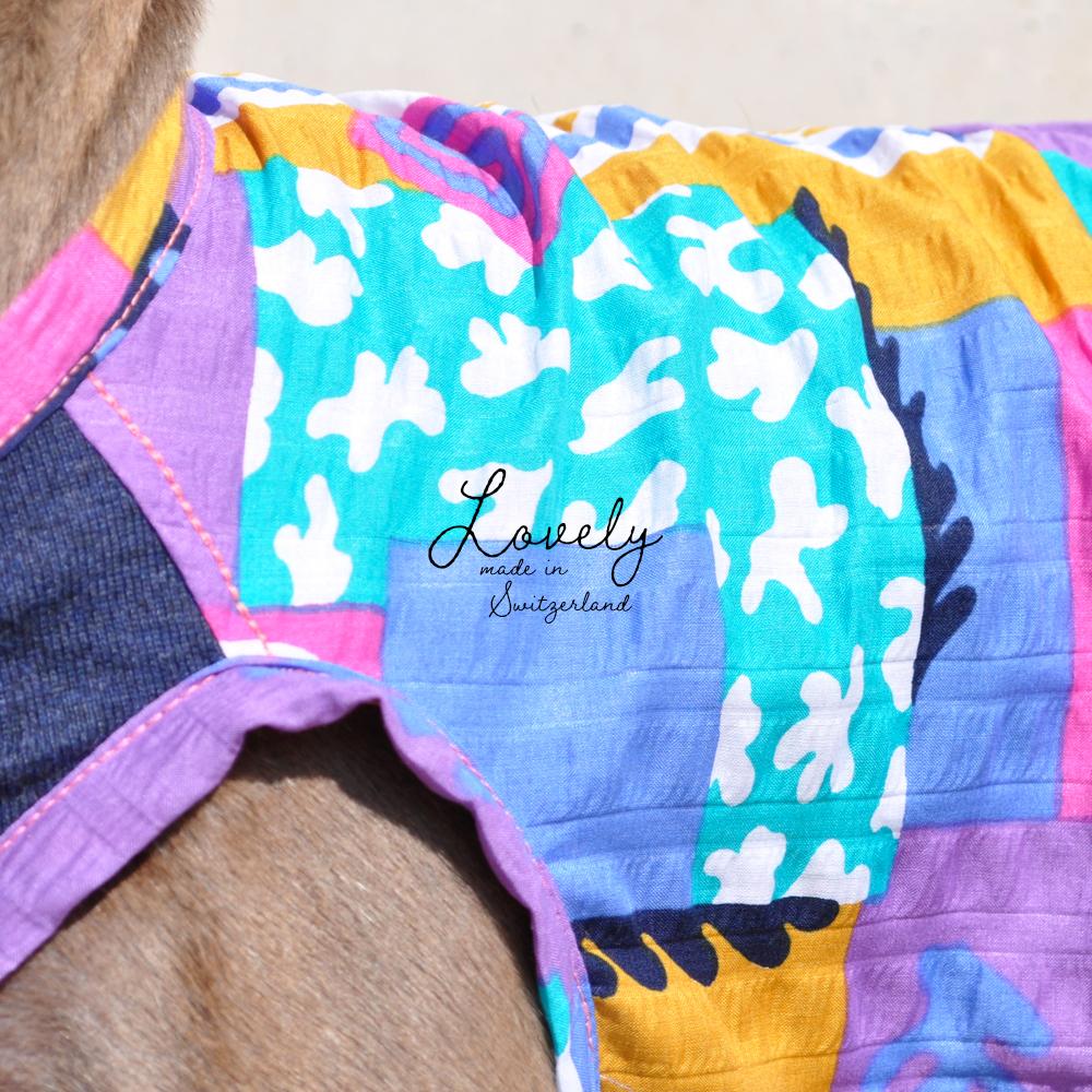 犬服|Lovely|スイス製サッカープリント|選べる3タイプ×3カラー(ベージュ/ネイビー/グレイ)