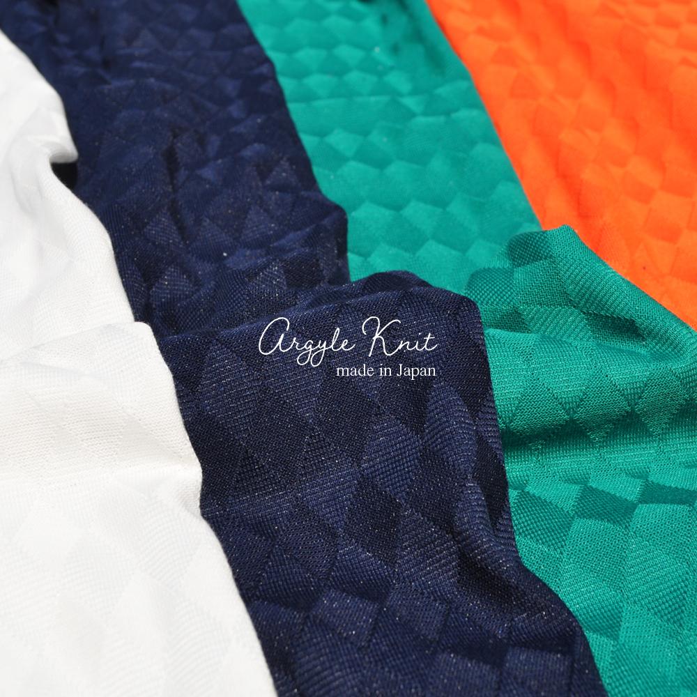 犬服|上品な日本製アーガイルニット|選べる4タイプ×4カラー(ホワイト/ネイビー/グリーン/オレンジ)