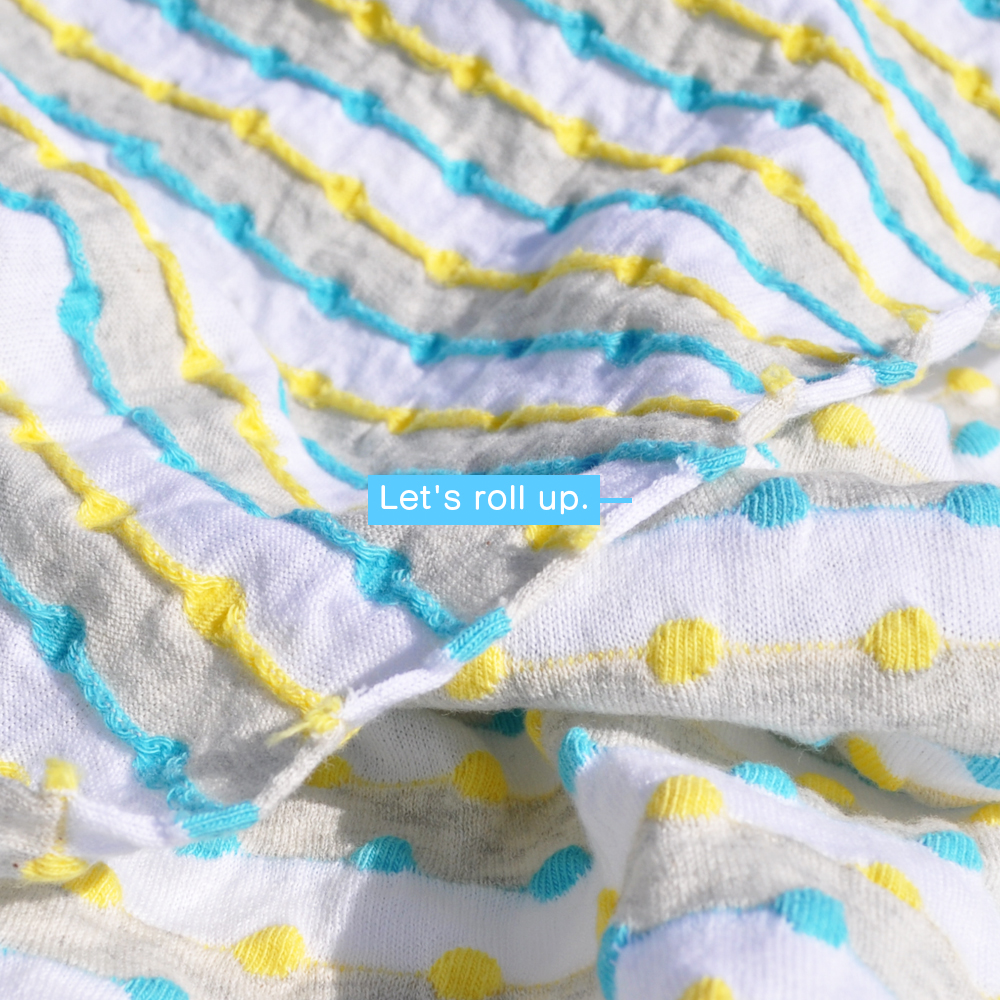 犬服|ロールアップしよう♪ポップなドット|日本製ポップドビーボーダーニット|選べる4タイプ×2カラー(イエロー&ブルー/レッド&グリーン)
